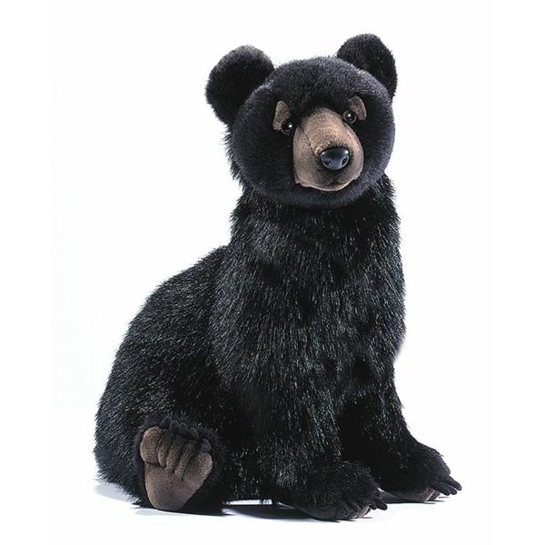 Handcrafted 16 Inch Lifelike Black Bear Cub Stuffed Animal