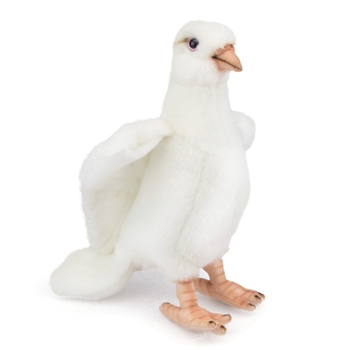 Handcrafted 8 Inch Lifelike White Dove Stuffed Animal by Hansa
