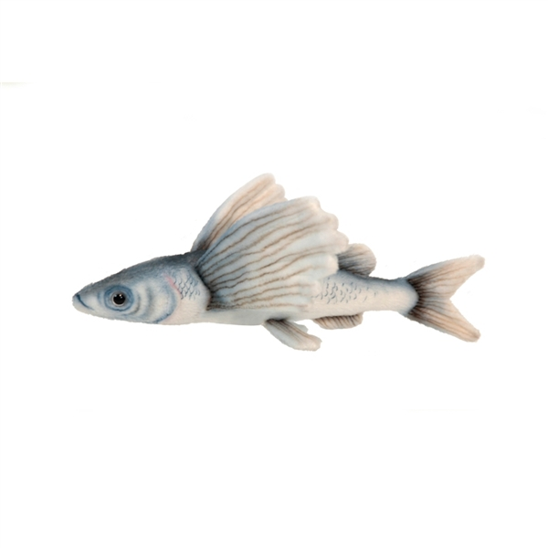 Handcrafted 10 inch lifelike flying fish stuffed animal by for Fish stuffed animal
