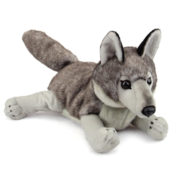 large stuffed gray wolf conservation critter by wildlife artists. Black Bedroom Furniture Sets. Home Design Ideas