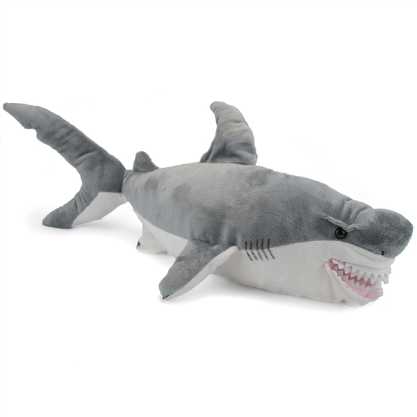 Large Plush Great White Shark Conservation Critter By