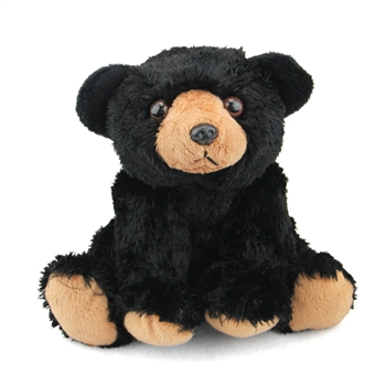 Stuffed Black Bear Mini Cuddlekin by Wild Republic