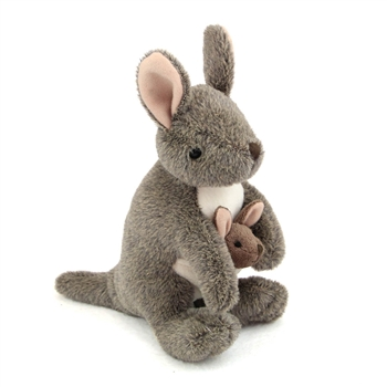 Stuffed Kangaroo Mini Cuddlekin by Wild Republic