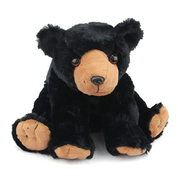 Plush Black Bear 12 Inch Stuffed Bear Cuddlekin By Wild Republic