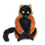 Plush Red Ruffed Lemur 12 Inch Stuffed Primate Cuddlekin By Wild Republic