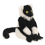 Stuffed Black and White Ruffed Lemur 12 Inch Cuddlekin by Wild Republic