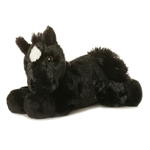 Beau the Stuffed Black Horse by Aurora