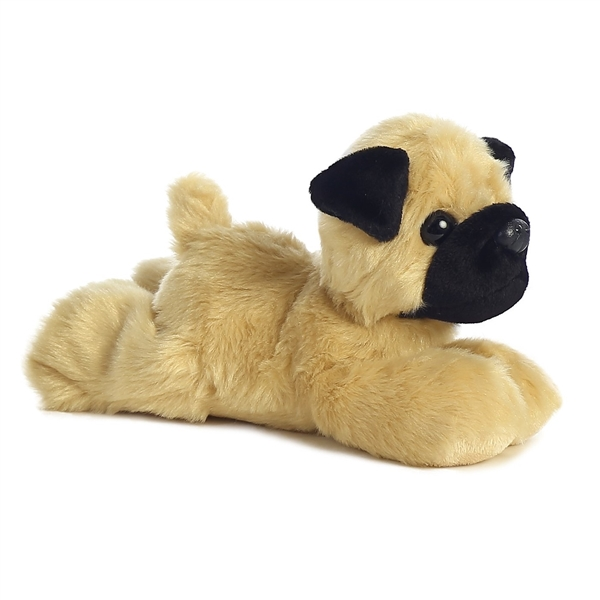 stuffed animal pug little pugster the stuffed pug mini flopsie by aurora 4746