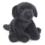 Lucy the 5 Inch Plush Black Lab Mini Pup by Douglas